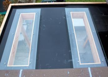 Lichtkoepel voor overkapping 150 x 45 cm daglichtmodule - Veranda met dakraam ...
