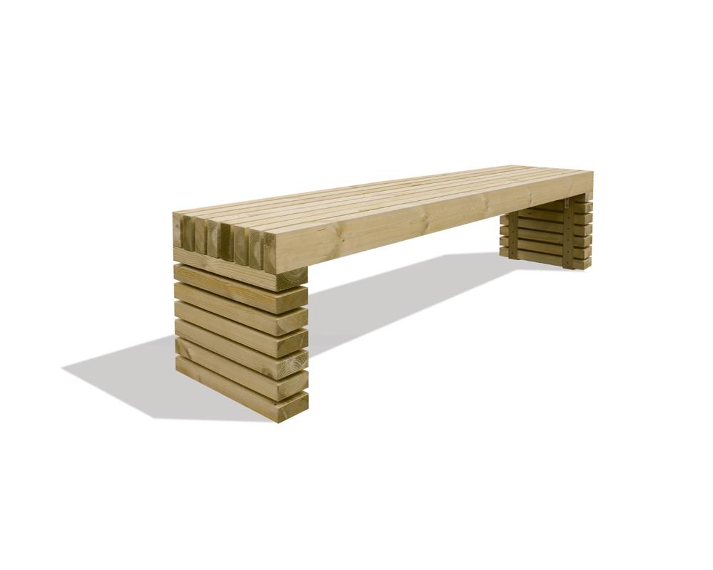 Luxe houten tuinbank blaricum grenen 180 x 40 x 46 cm - Planken modern design ...