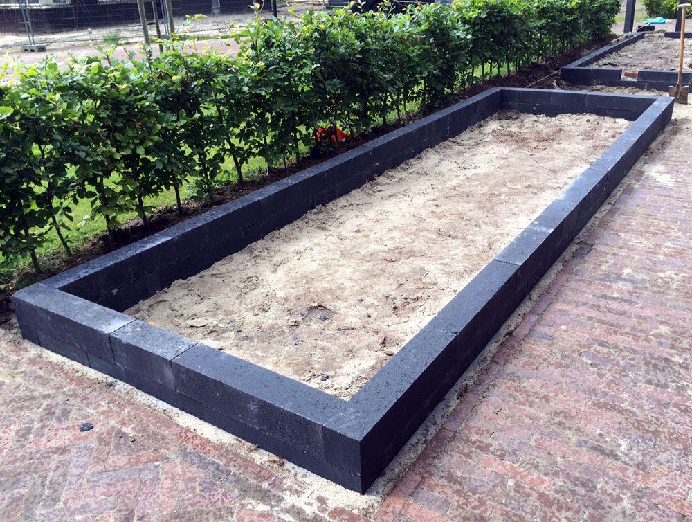 linia palissaden stapelblokken zwart 12x12x60cm excellence