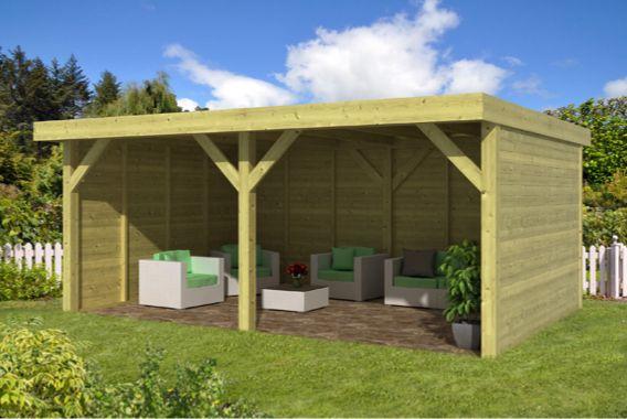 Realisatie terrasoverkapping met openschuifbaar dak m te