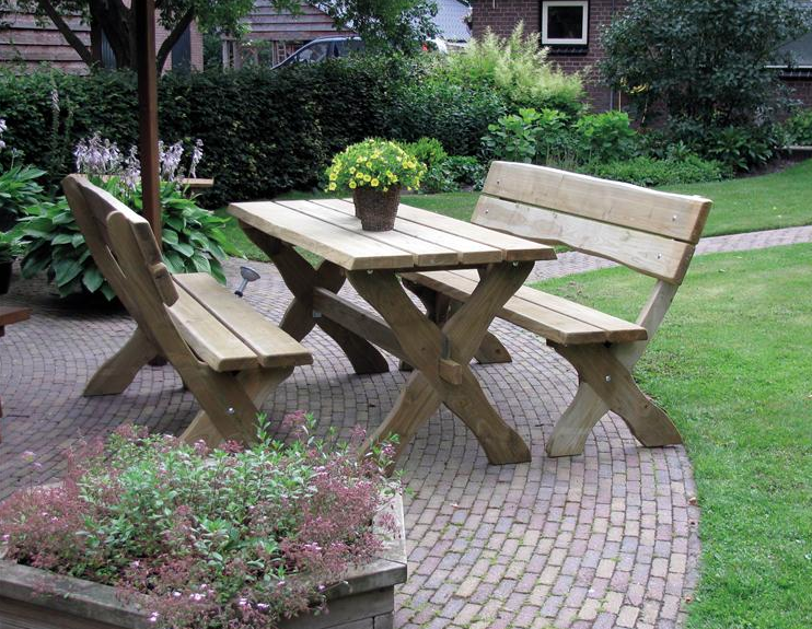 Losse Bank Picknickset Leusden 180 cm Lariks Douglas