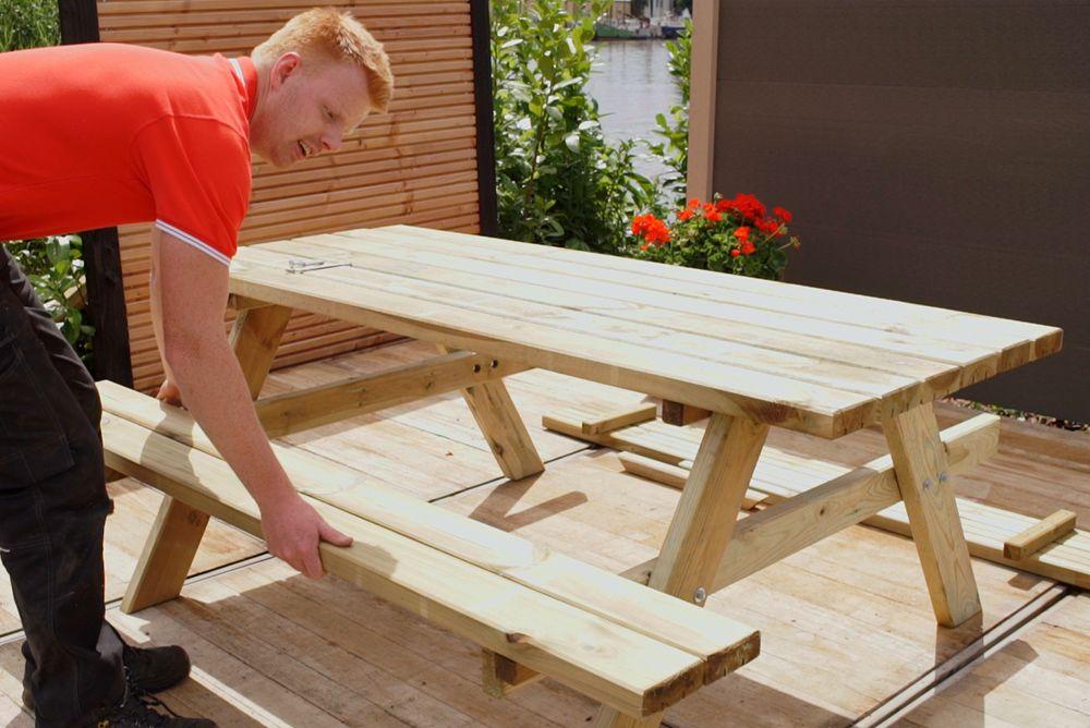 Verwonderlijk Houten Picknicktafel kopen Picknickbank hout 180x70 cm Groningen NU-59