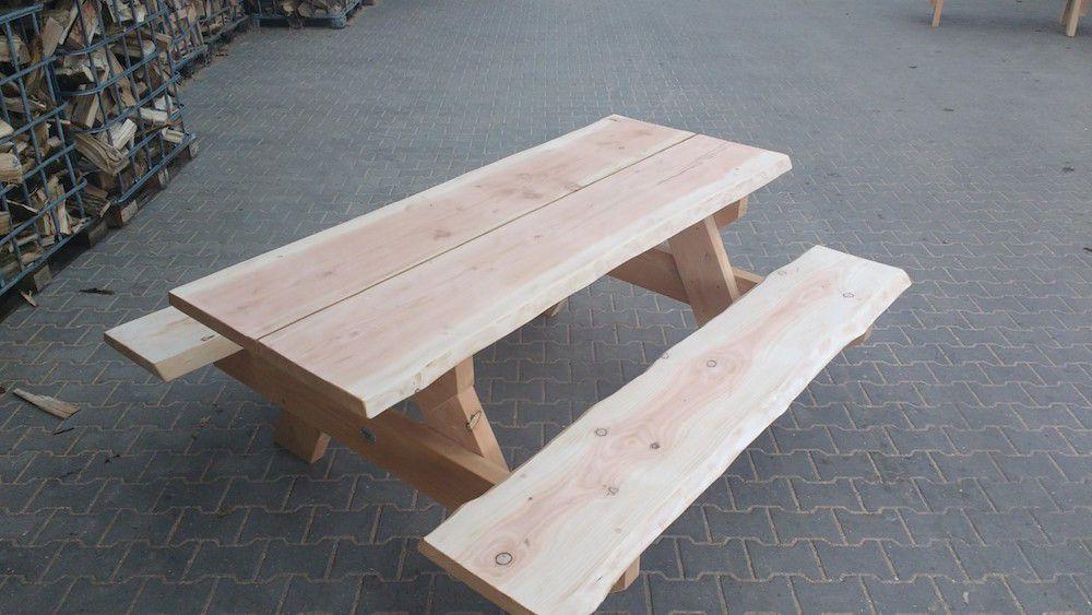 Tafel Van Schaaldelen.Picknicktafel Lariks Douglas Hout 230 X 170 Cm