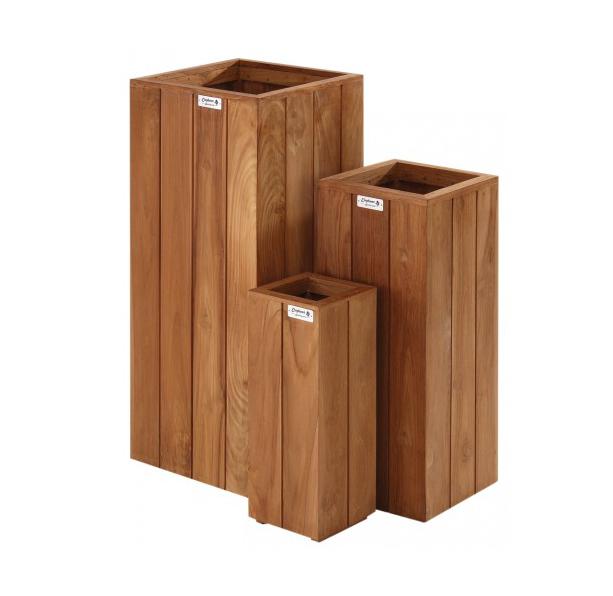 Hardhouten hoge plantenbak pilaar 20 x 20 x 50 cm bankirai for Wohnzimmertisch 70 x 50