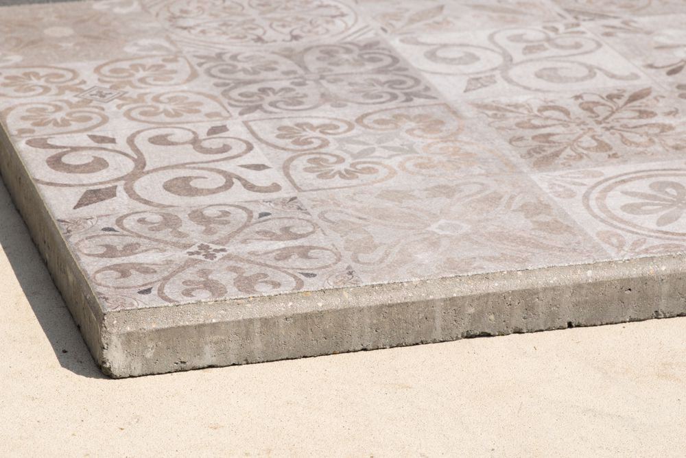 Tegel Met Facet : Basalt tegel g gevlamd geborsteld met facet cm burman