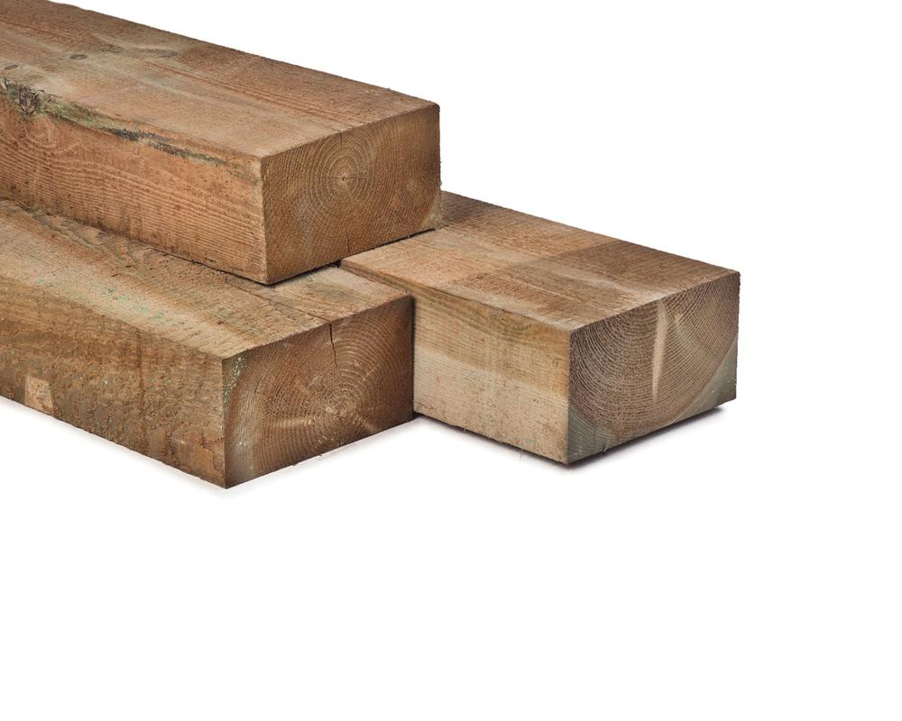 Hout bielzen 12 x 22 x 260 cm spoorbiels modern grenen hout for Hout voor traptreden
