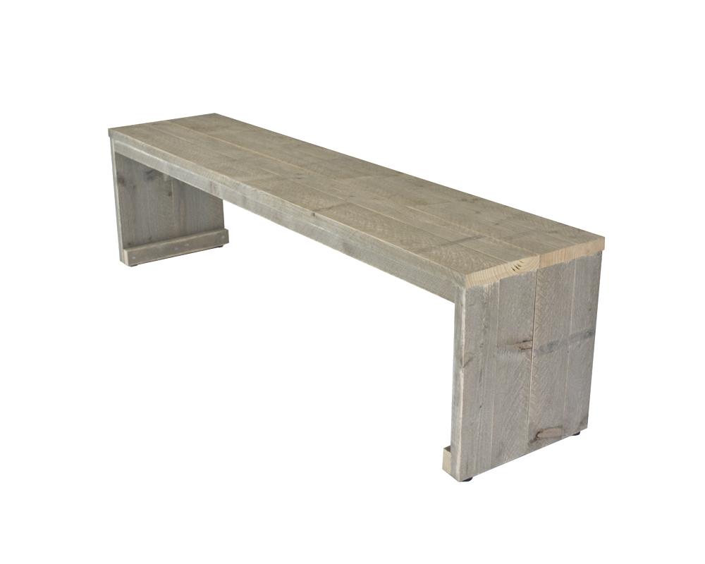 Steigerhout bankje hout buitenbank op maat gemaakt lage for Houten bankje steigerhout