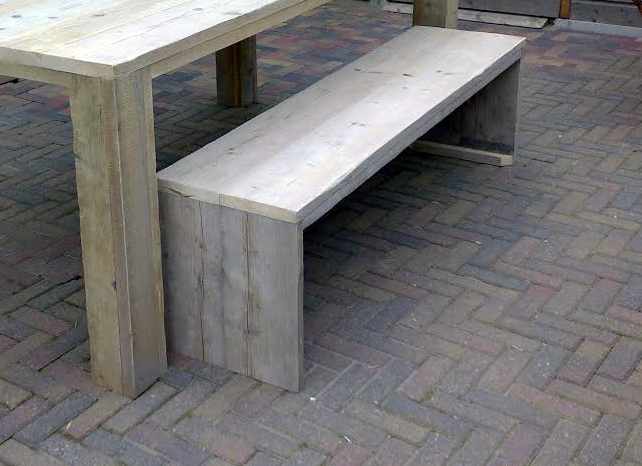 Steigerhout bankje hout buitenbank op maat gemaakt lage for Zitbank steigerhout