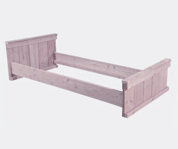 Steigerhout bed eenpersoons in 3 maten bed voor 1 persoon for Steigerhout bed