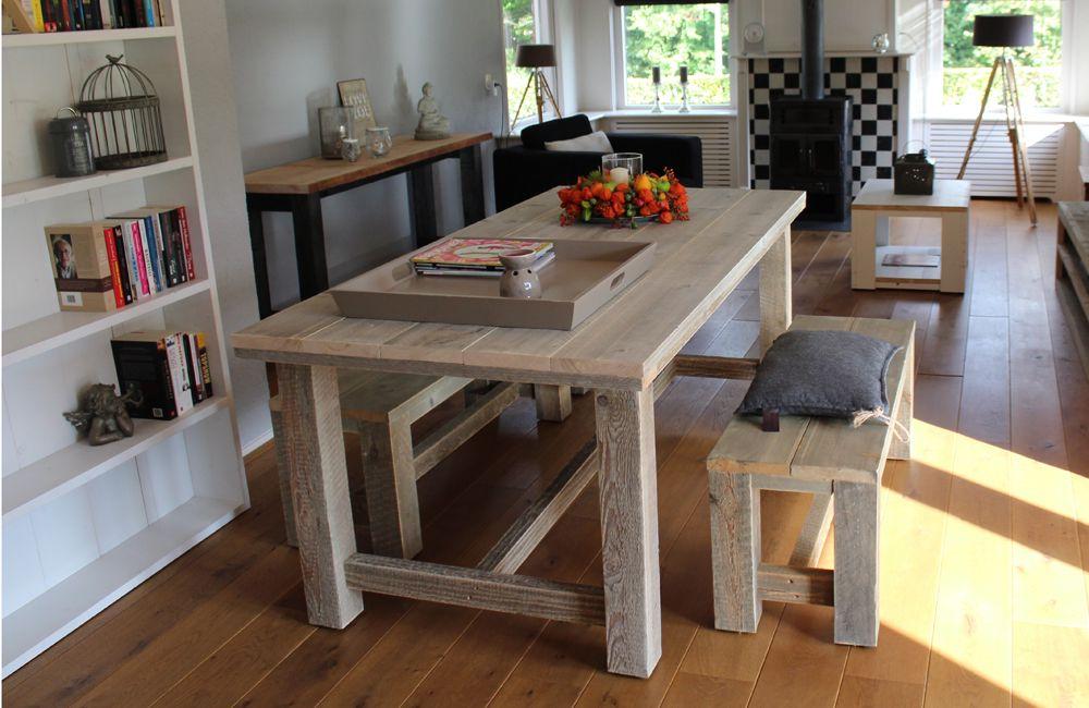 kloostertafel steigerhout steigerhout kloostertafel houten tafel buiten kant en klaar