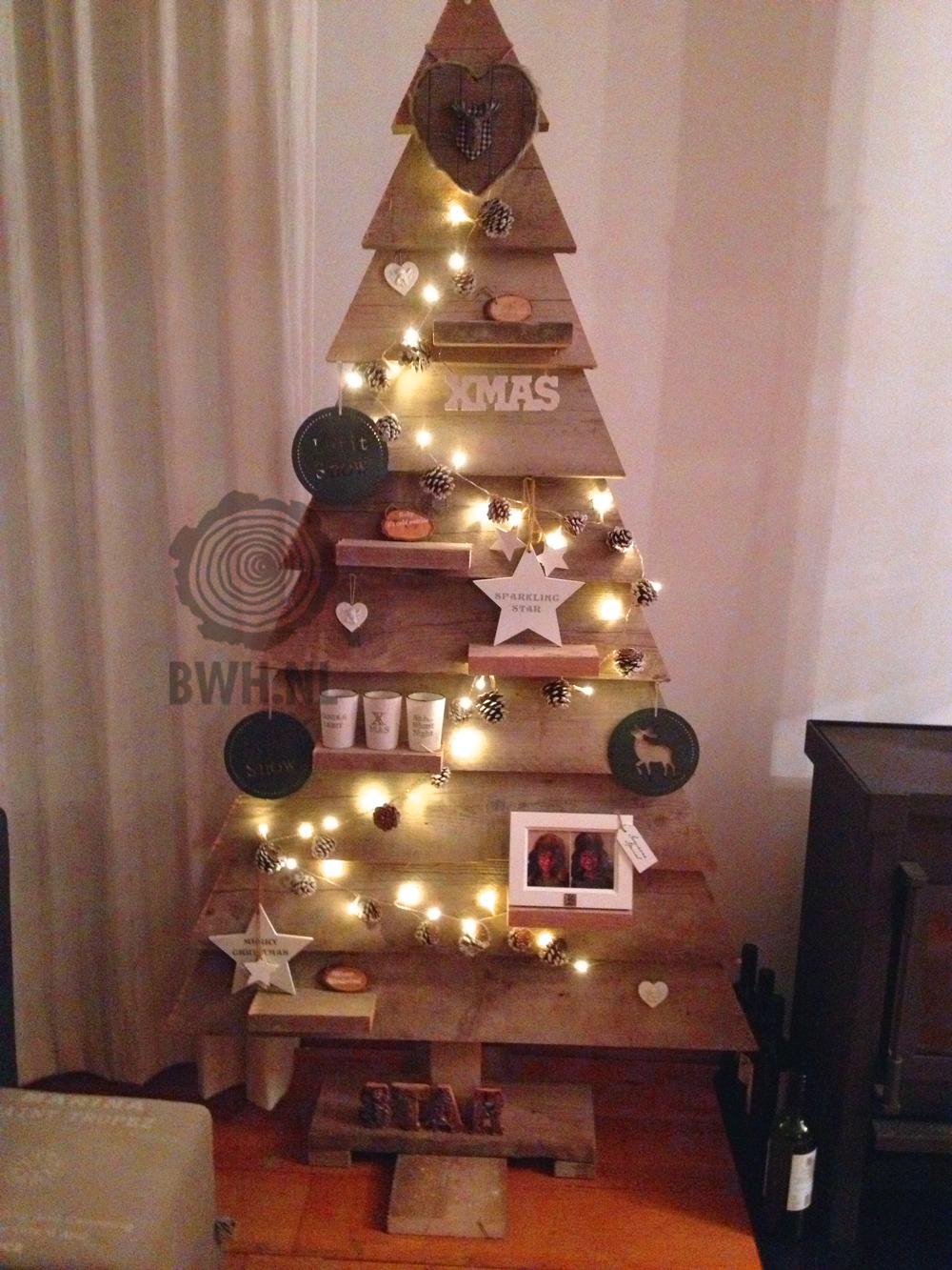 Houten Kerstboom Kerst Steigerhout boom