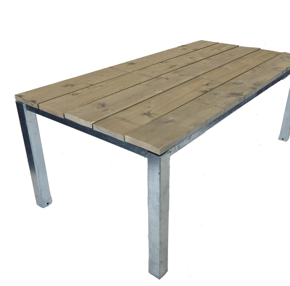 Steigerhout tafel stalen frame 200 x 100 x 75 cm eettafel