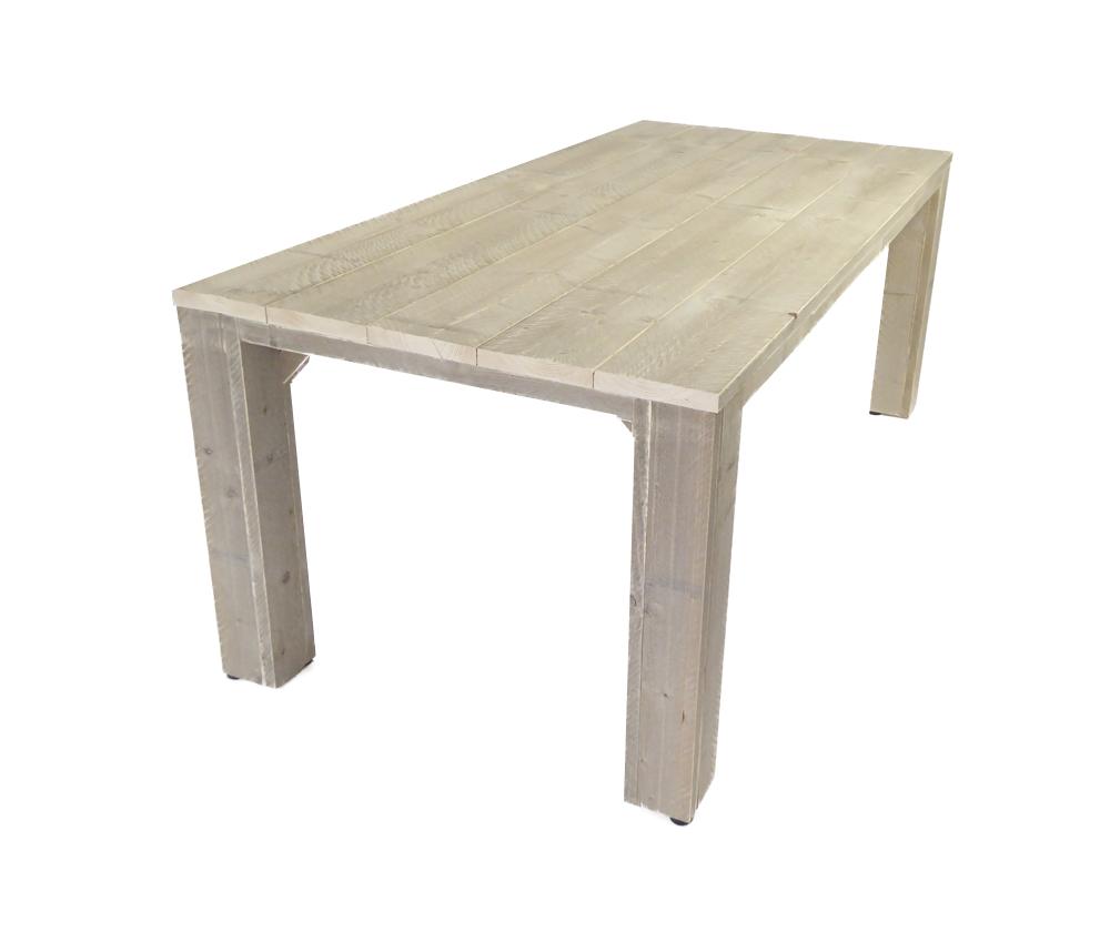 Steigerhouten tuintafel houten eettafel voor buiten op maat - X houten ...