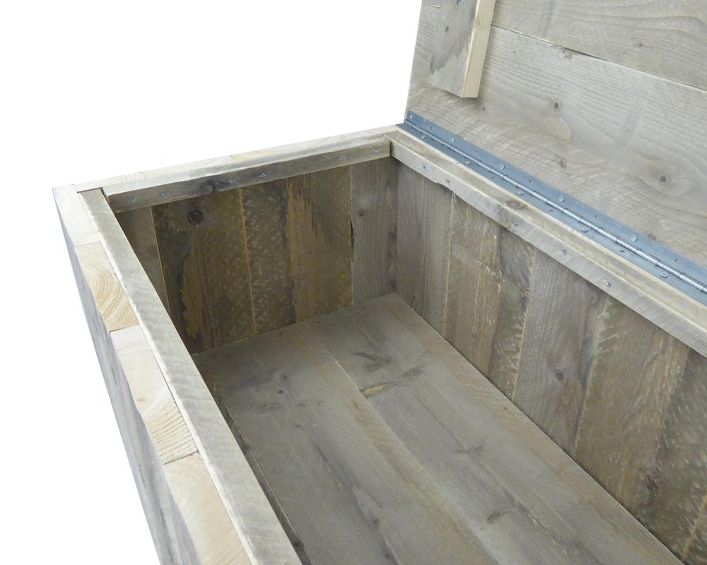 Steigerhout Tuinkist 105 x 60 x 45 cm Kussenbox    Speelgoedkist
