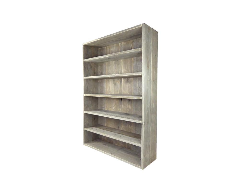 steigerhouten boekenkast 180 x 120 x 40 cm kant en klaar meer fotos