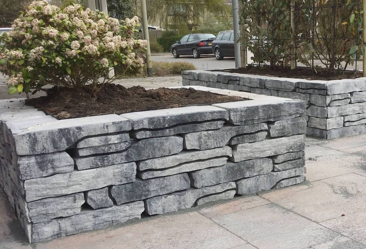 Bekend Muurelementen beton blokken stapelblokken steen webwinkel @XZ15