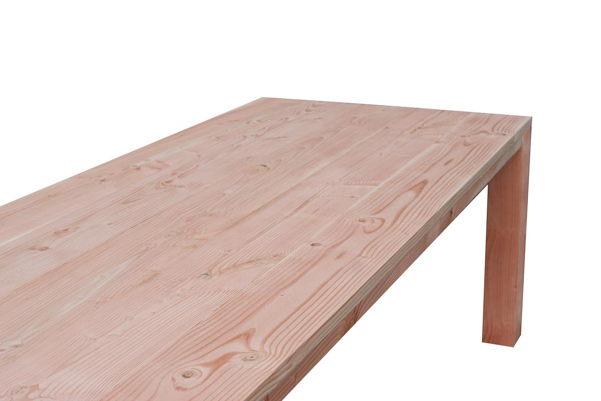 Houten Tafel Behandelen : Lariks douglas tafel glad geschaafd hout 180 320 cm eettafel