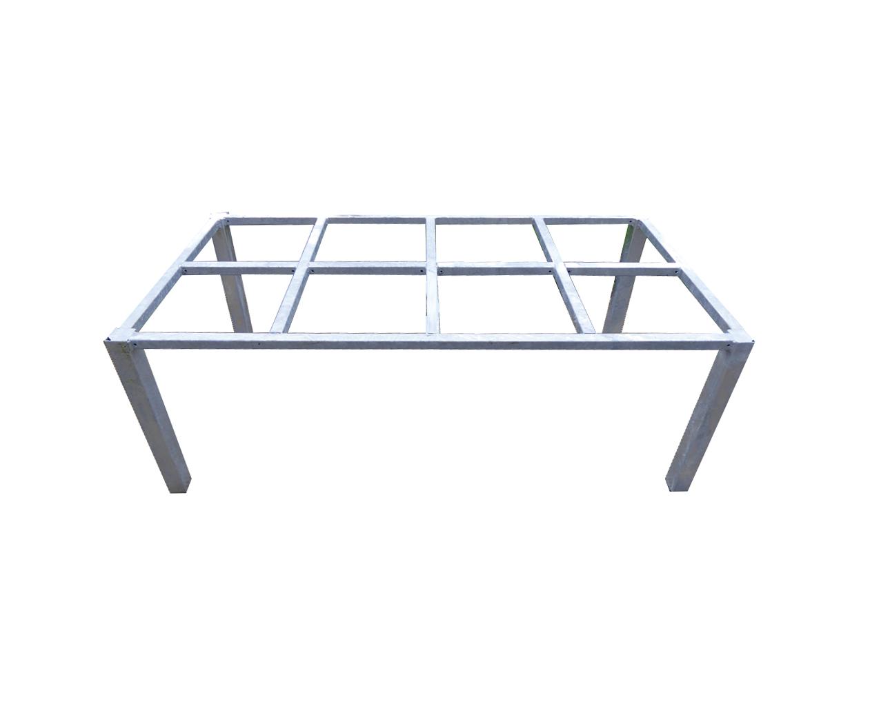 Tafel onderstel staal verzinkt 260 cm for Stalen onderstel tafel laten maken