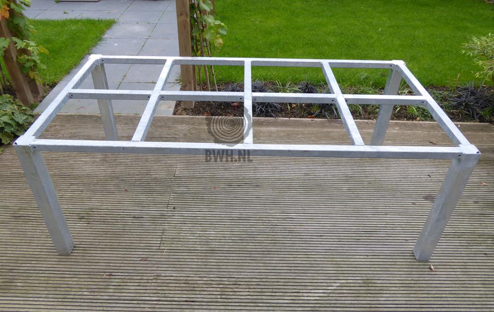 Tafel Stalen Frame : Tafel onderstel staal verzinkt cm