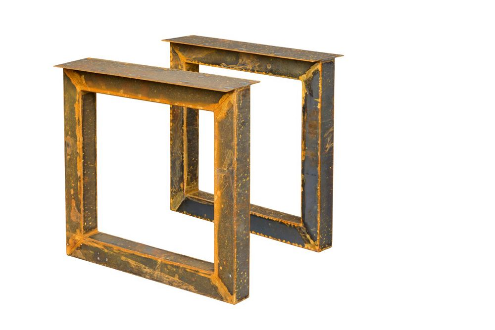 Tafel 70 Cm : Tafel onderstel corten staal cm set van