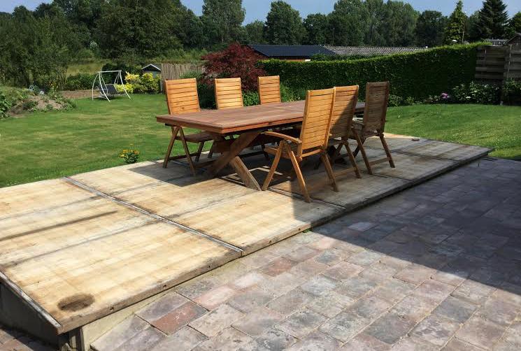 Steenschotten azobe hardhout 90x135 cm geschuurd - Terras en tuin ontwikkeling foto ...