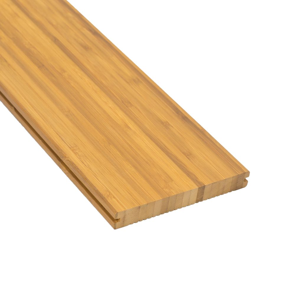 Terrassendiele Bambus thermisch modifiziert 1,8 x 14 cm Ölbehandlung gratis  Clips