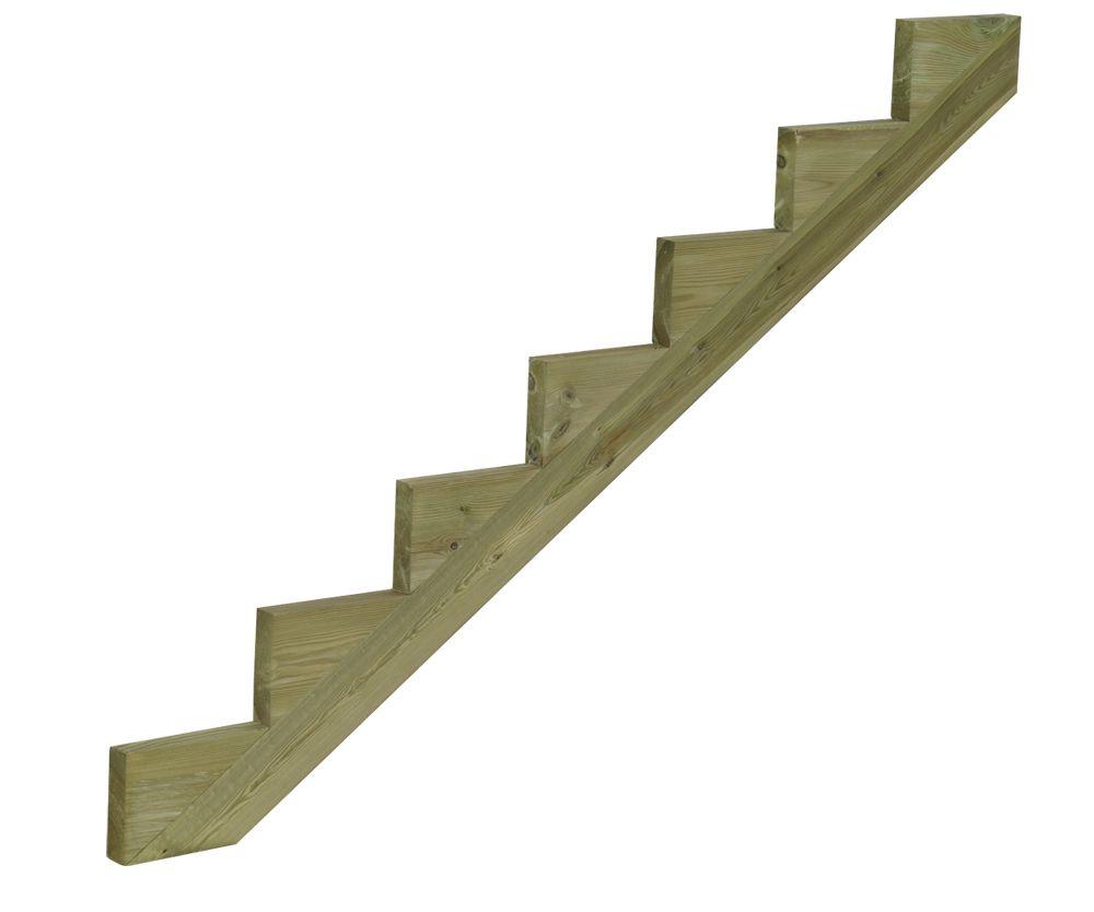 Treppenwange Holz Impragniert 7 Stufen