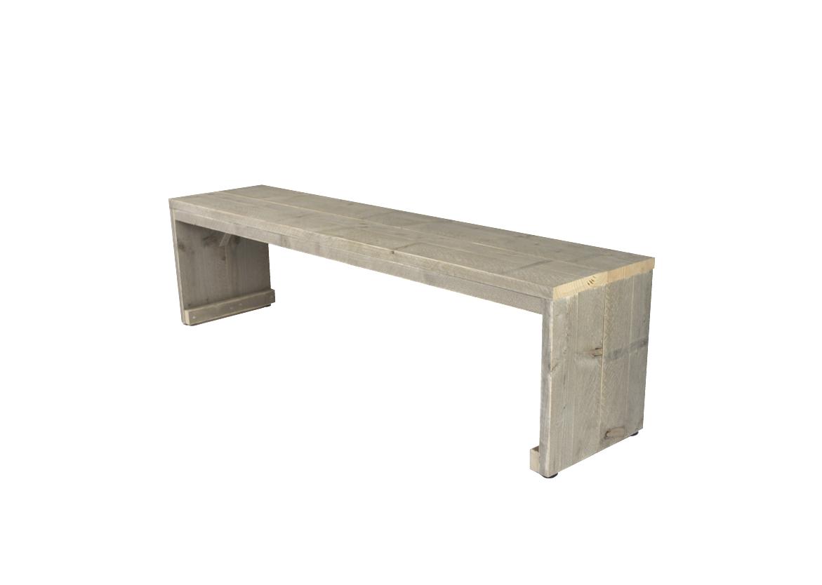 Steigerhout eettafel bank hout op maat gemaakt lage zitbank