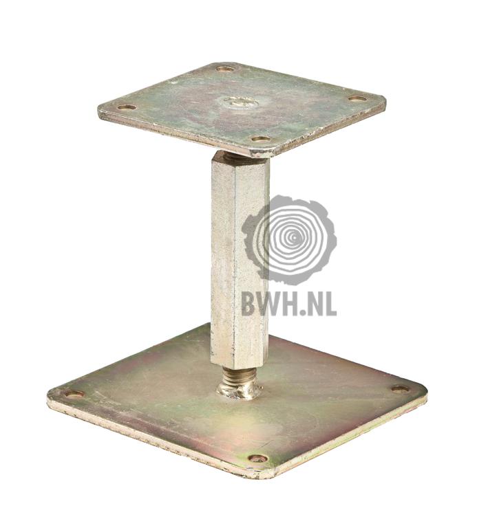 Merk Gadero Productnr. DE13227 Materiaal Staal Alle specificaties: buitenwarenhuis.nl/verstelbare-paaldrager-14-20cm