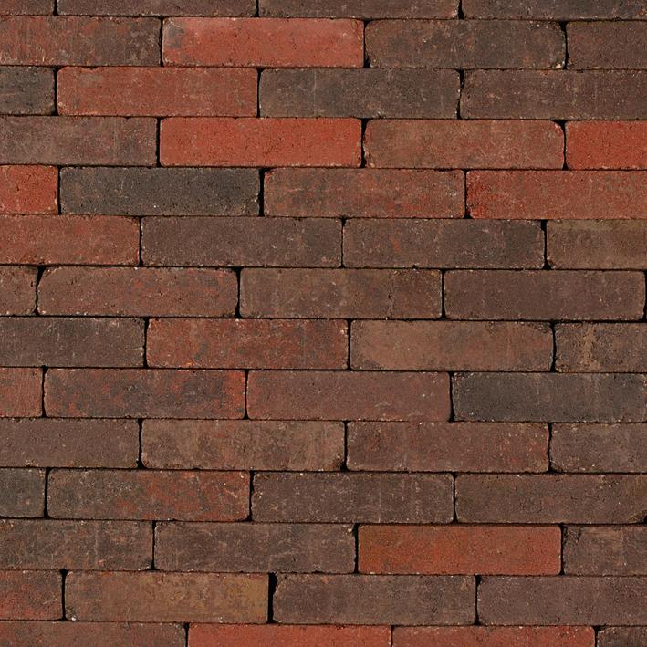 Dikformaat betonklinkers Rood genuanceerd Getrommeld 21x6.8x7 cm