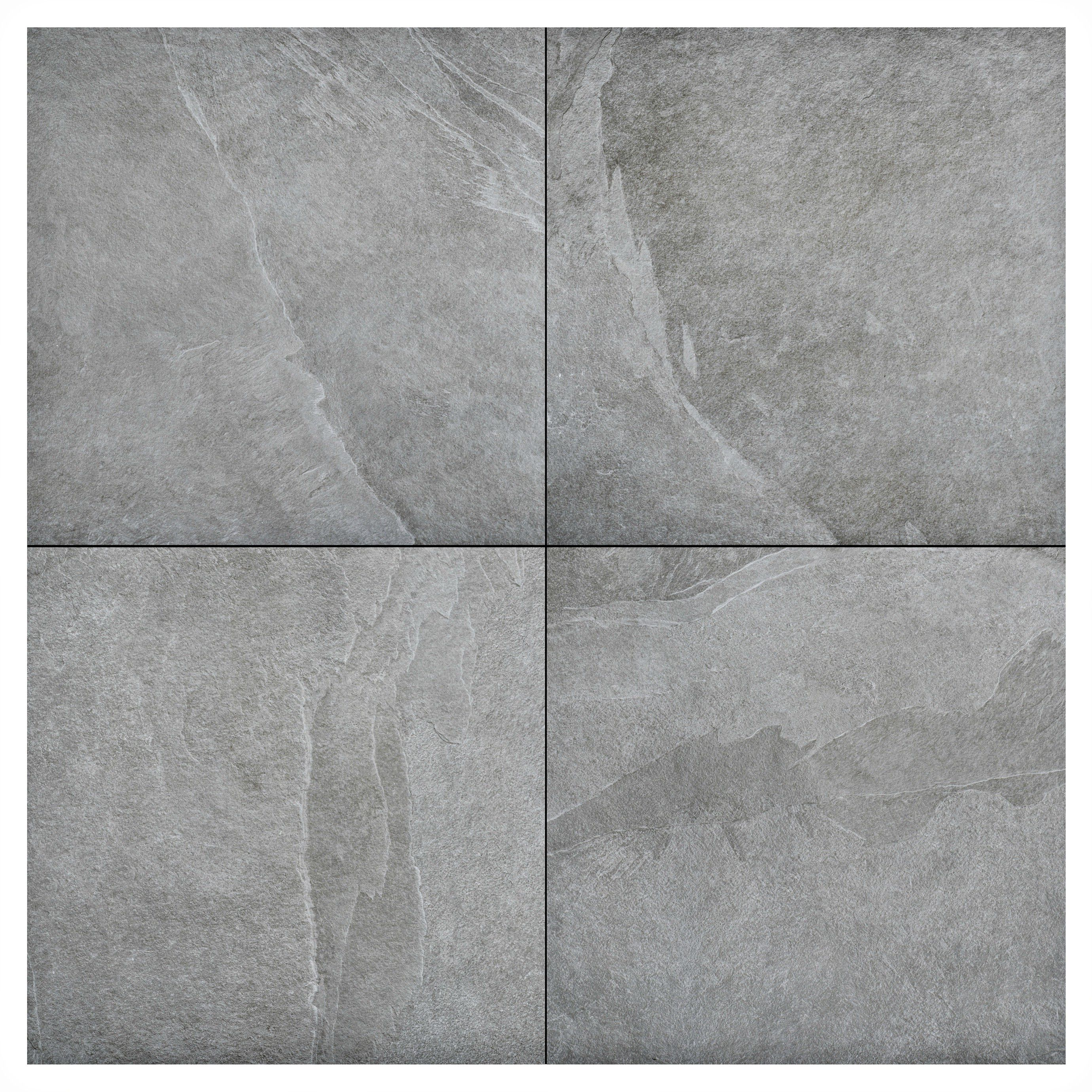 Keramische Terrassenfliesen Ceramica Ardesia Grey 200 x 200 x 20 cm