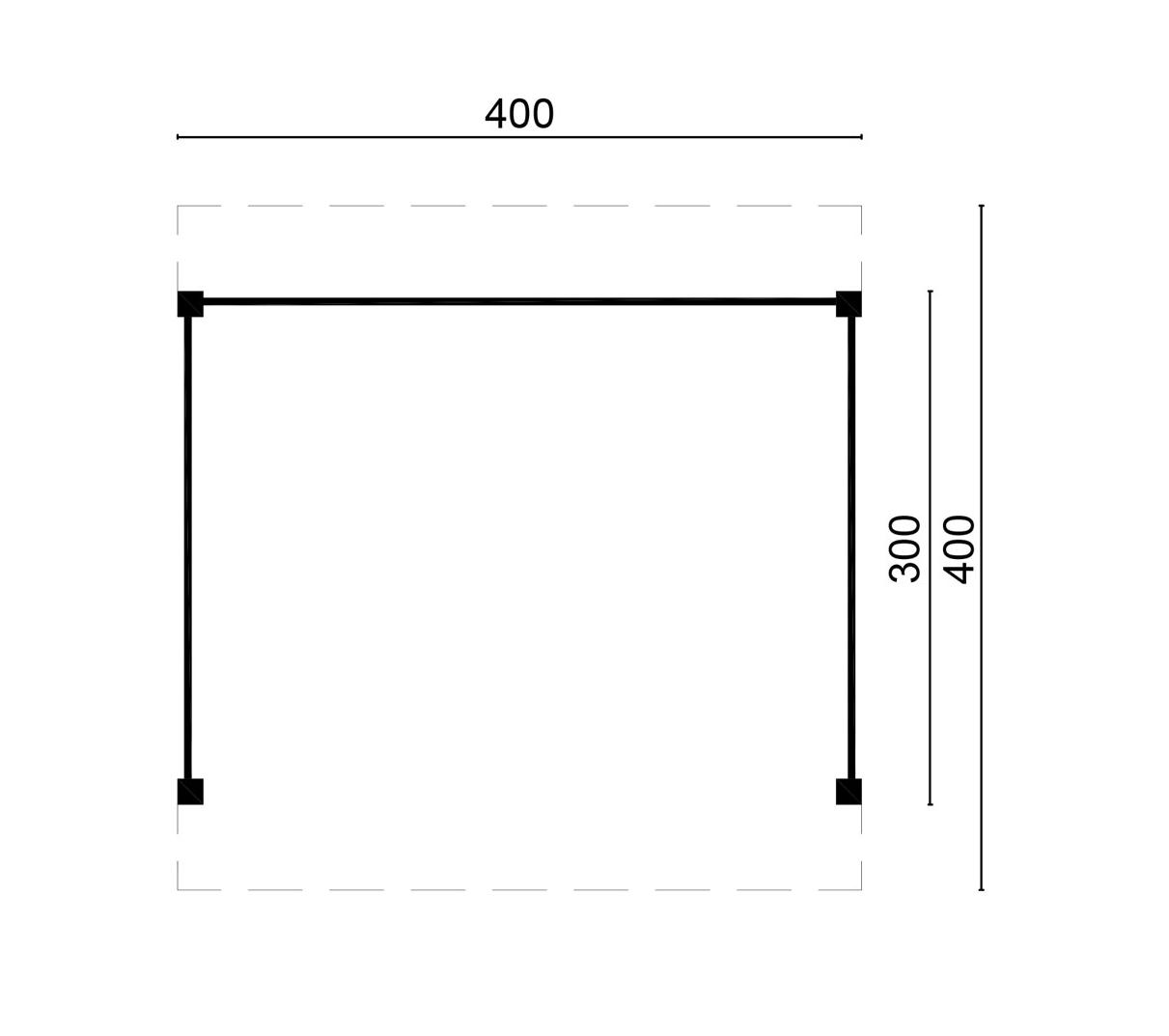 Doe Het Zelf Bouw Lariks Douglas Overkapping Blank 300 X