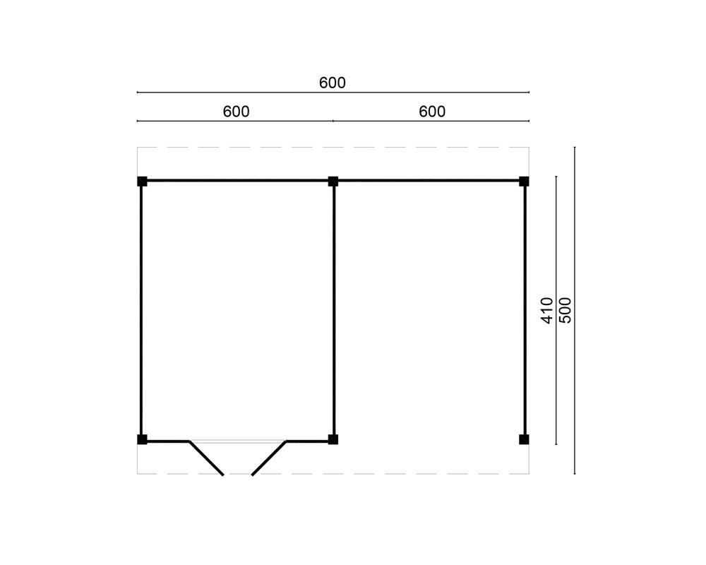 Doe het zelf Lariks Douglas Overkapping Raalte 600 x 410 cm met ...