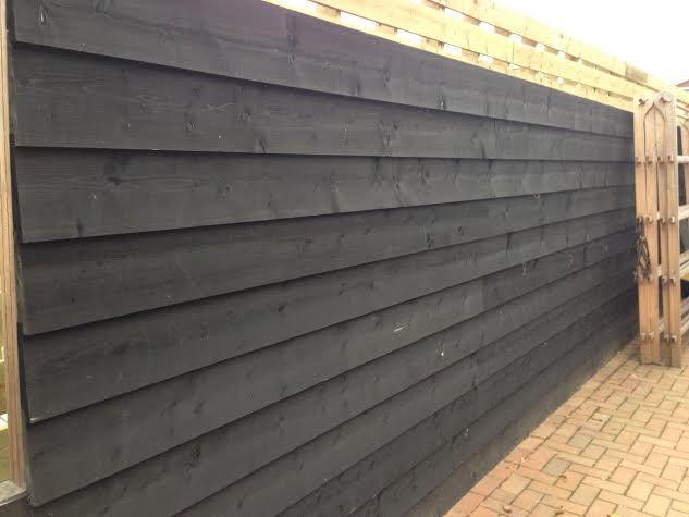 Zweeds rabat grenen hout zwart 19 5 x 400 cm zwarte planken - Planken zwarte ...