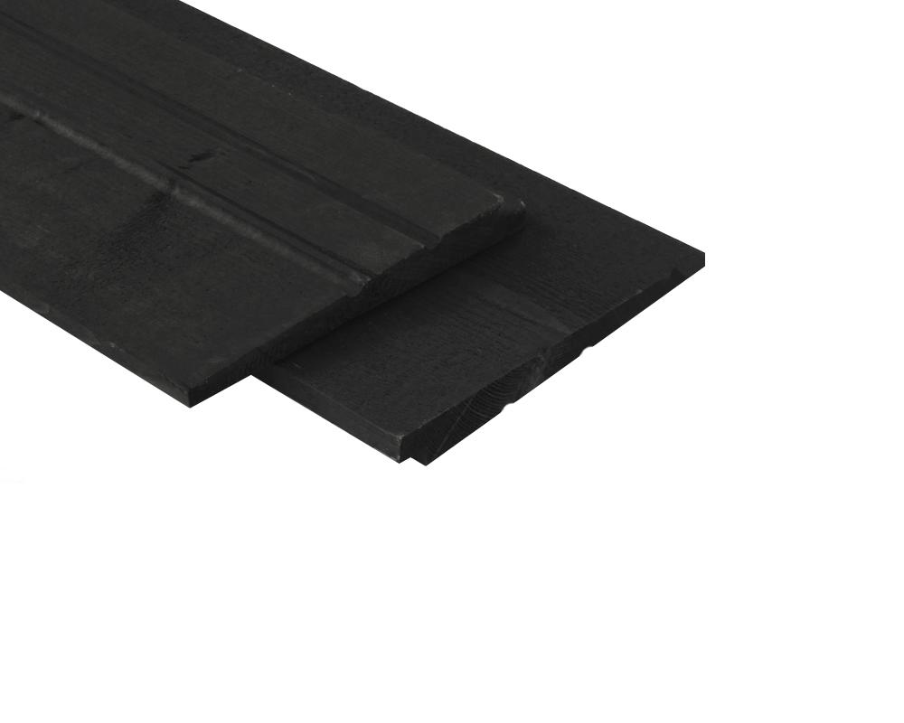 Zweeds rabat zwart gecoat potdekselplank 19 cm breed - Zwart gecoat ...