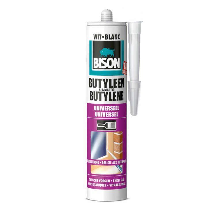 Bison Butyleenkit Koker Wit 310 ml