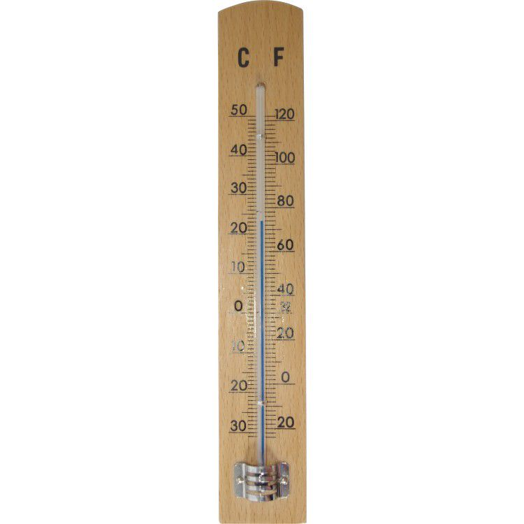 Hendrik Jan Thermometer Beukenhout 20 Cm