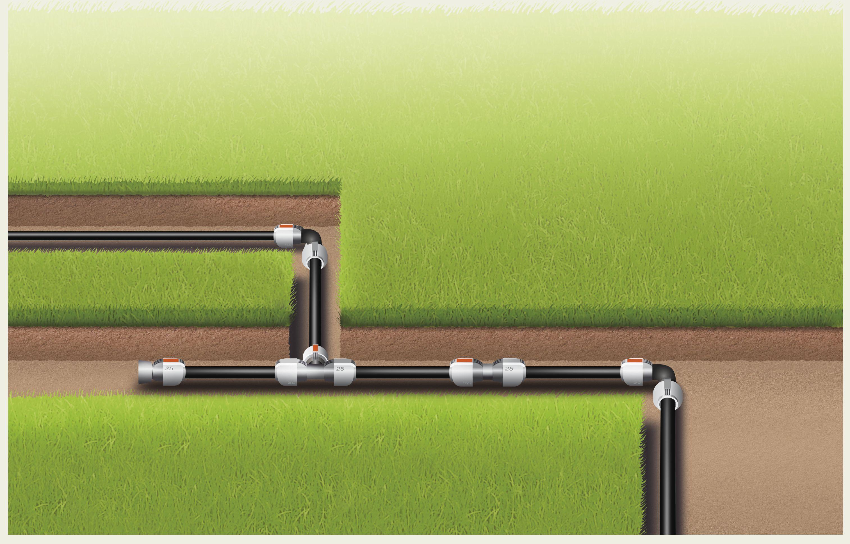 aanvoerbuis kopen gardena aanvoerbuizen sprinklersystem online. Black Bedroom Furniture Sets. Home Design Ideas
