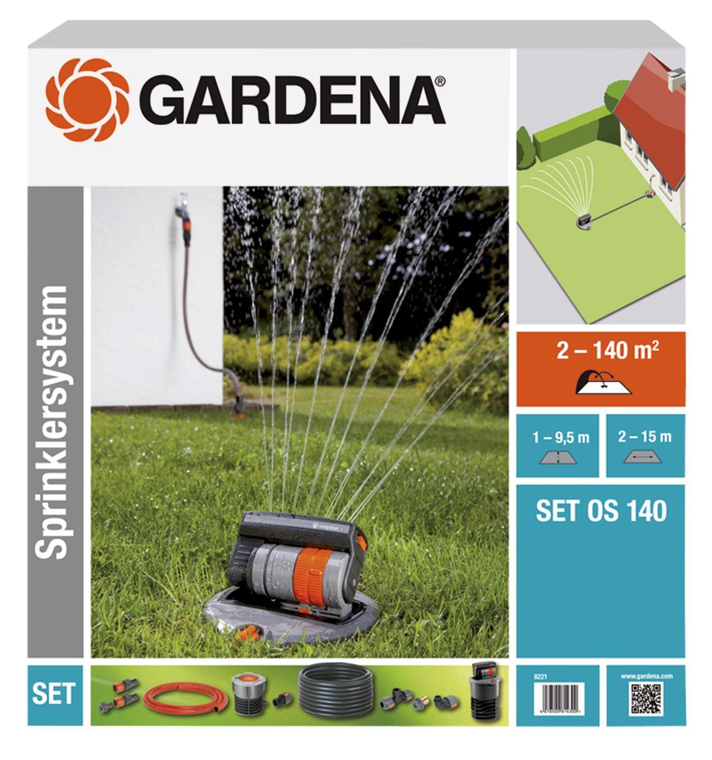 gardena verzonken zwenksproeier os 140 complete set kopen. Black Bedroom Furniture Sets. Home Design Ideas