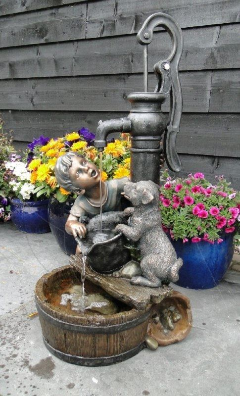 Waterornamenten tuin kopen waterornament regina met pomp for Waterornament tuin