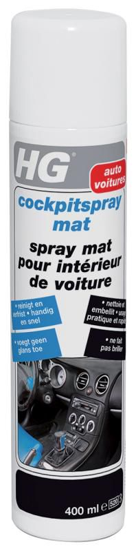 Hg cockpitspray mat 400 ml haxo doe het zelf for Autoreiniging interieur