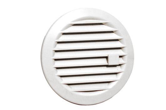 Ventilatierooster Afsluitbaar Kunststof Wit Ø 100 mm
