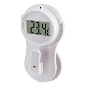 Raamthermometer LCD Wit