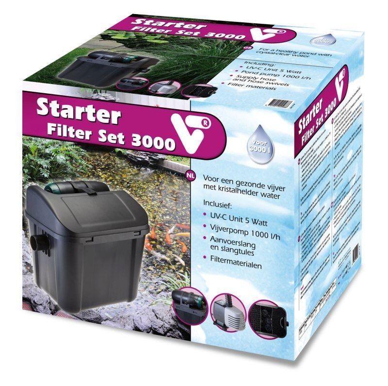 Vijverfilter set kopen vt vijver starter filterset 3000 for Filter voor vijver