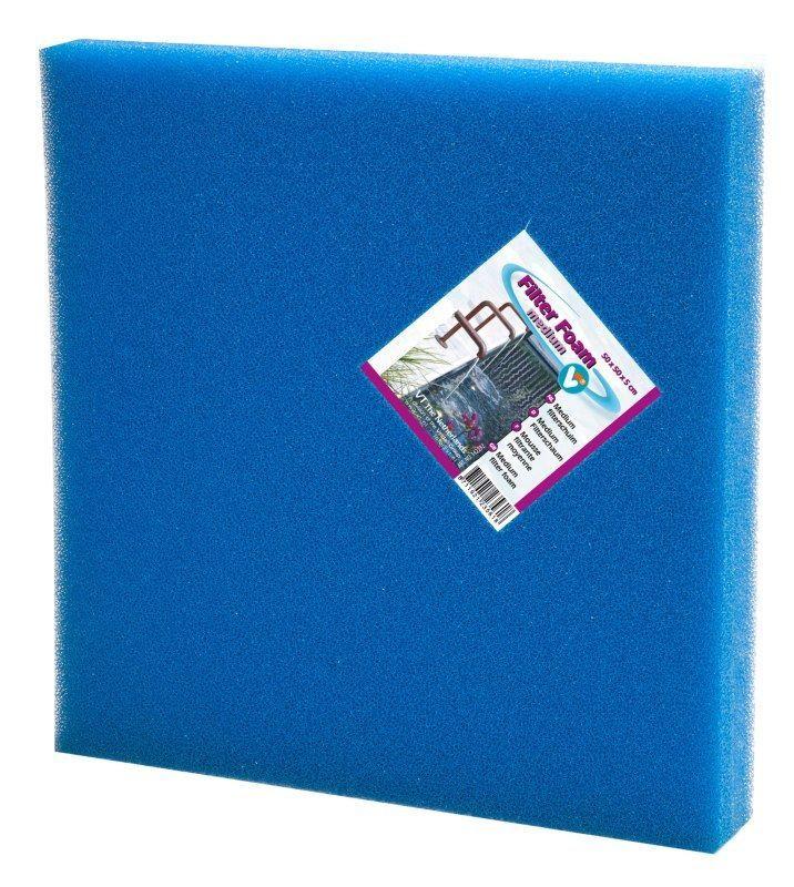 VT Filterschuim Medium Blauw 50 x 50 x 5 cm