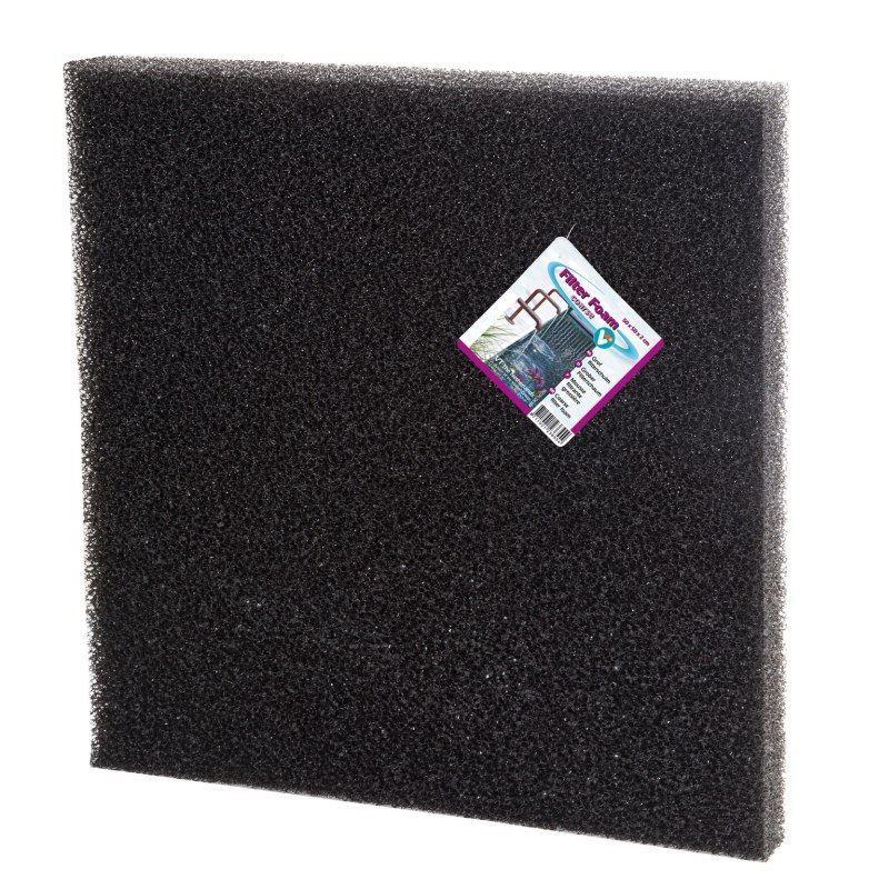 VT Filterschuim Grof Zwart 50 x 50 x 2 cm