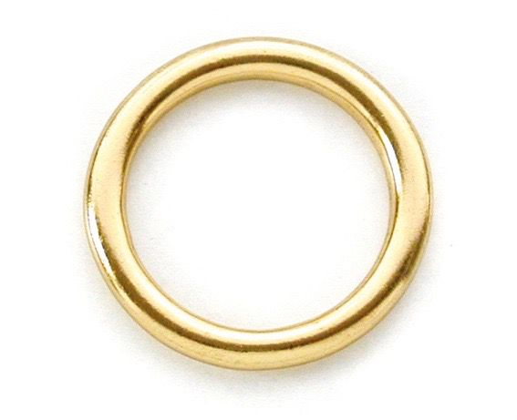 Ronde ring messing 23 x 4mm