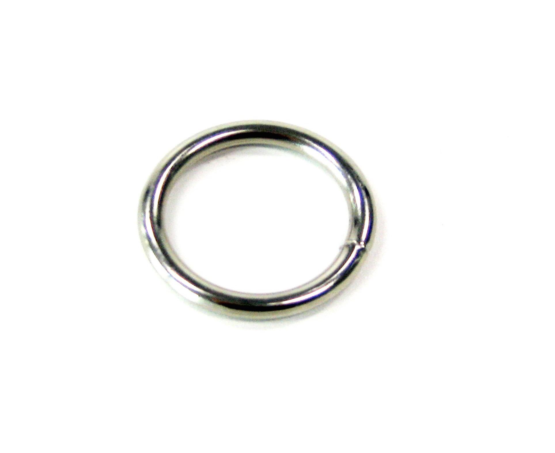 Ronde ring vernikkeld 20 x 3mm