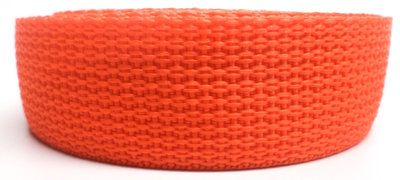 Spanband oranje op rol 50 meter 50mm breed