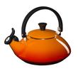 Le Creuset fluitketel Zen oranje-rood 1.5 liter